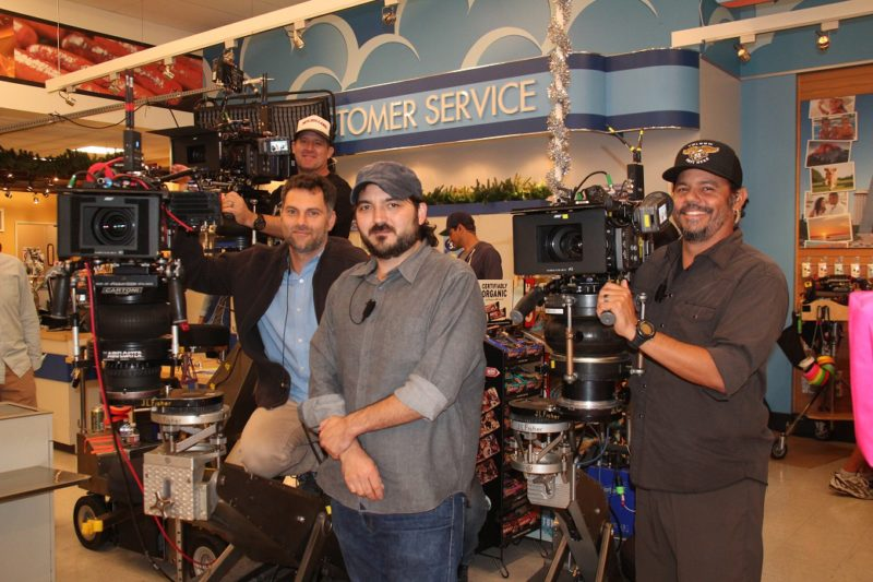 "Jay Hunter and the ""Superstore"" camera crew."