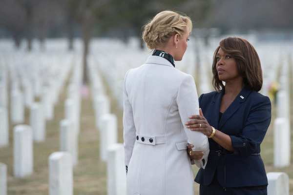 "Katherine Heigl, left, and Alfre Woodard in the NBC drama ""State of Affairs."" Photo by Michael Parmelee/NBC"